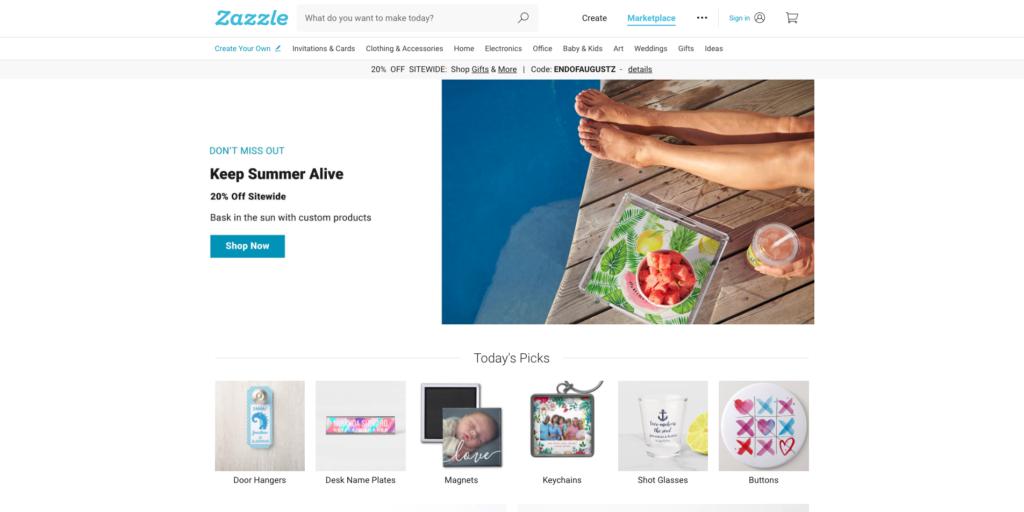 Print On Demand Companies - Zazzle